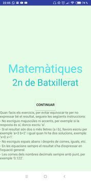 Matemàtiques 2n de Batxillerat i P.A.U. poster
