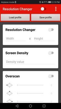 Screen Resolution Changer: Display Size & Density Cartaz