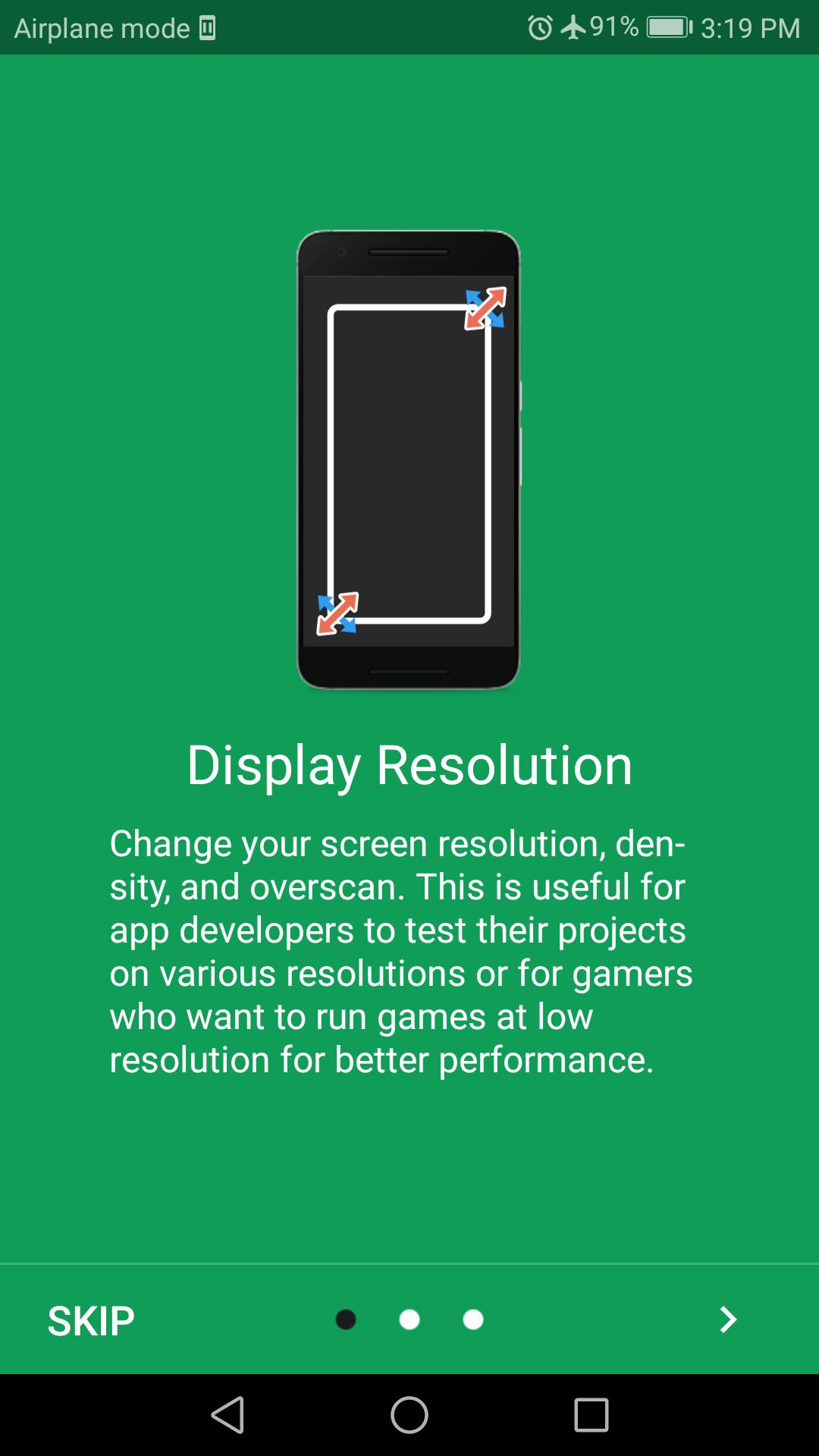 Screen Resolution Changer: Display Size & Density for