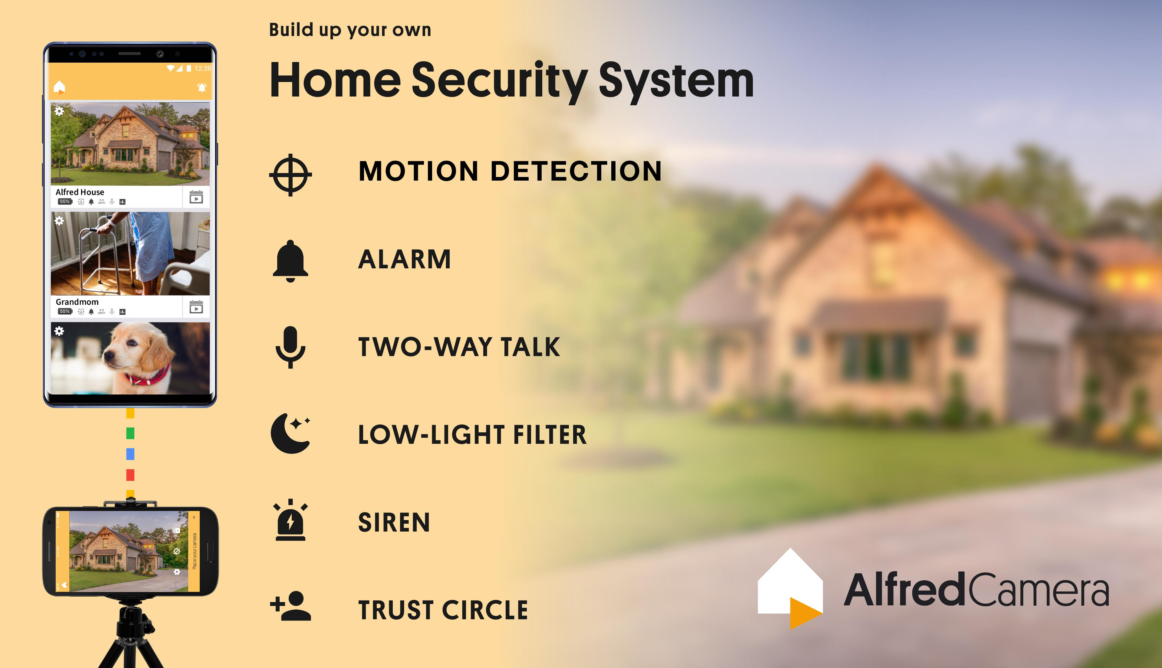 Alfred Home Security Camera, Baby&Pet Monitor CCTV for