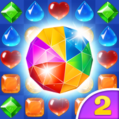 Gems & Jewels 2 - Match 3 Jungle Puzzle Game icon