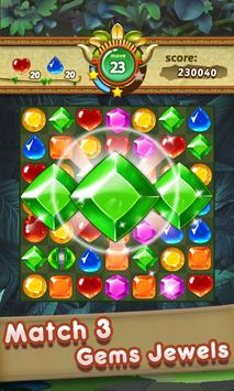 Gems & Jewels 2 - Match 3 Jungle Puzzle Game poster