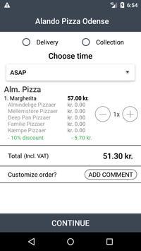 Alando Pizza Odense screenshot 2