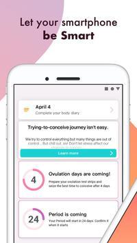 Ovulation-Fertility Tracker Eveline Cycle Calendar poster