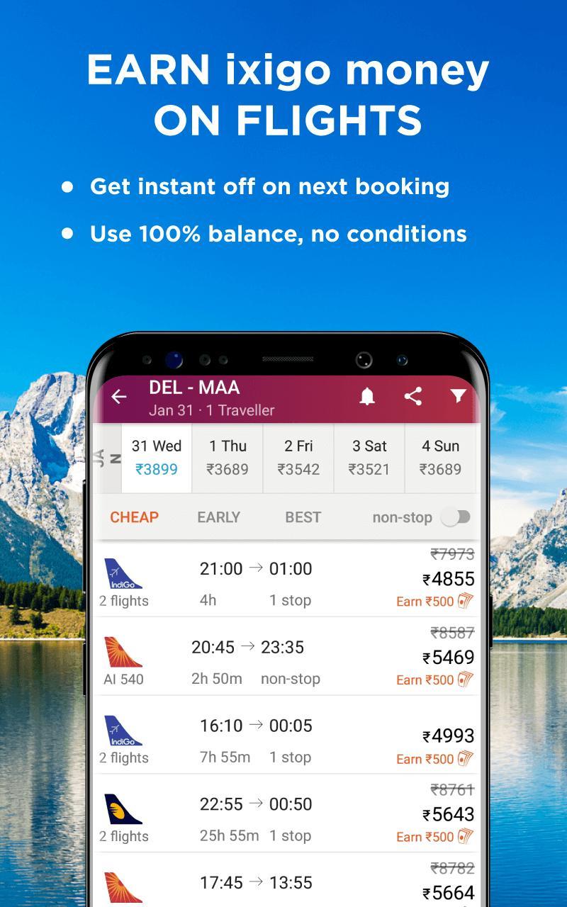 Flight, Hotel & Bus Booking App - ixigo for Android - APK
