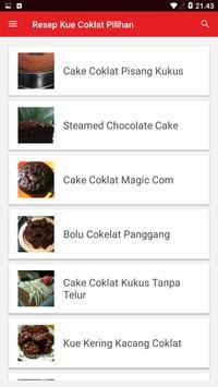 Resep Kue Coklat Pilihan screenshot 1