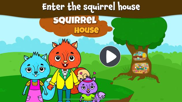 Animal Town - My Squirrel Home for Kids & Toddlers poster