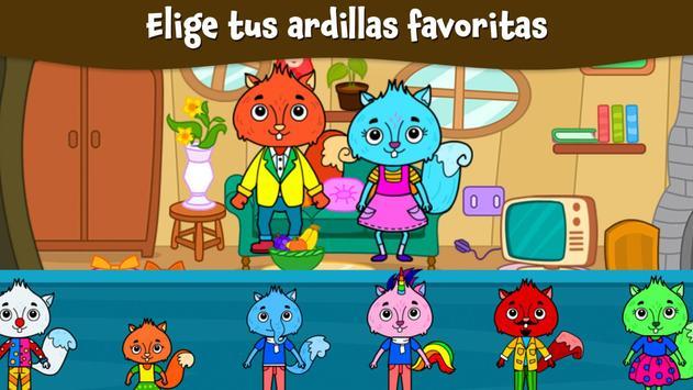 Ciudad Animal: Casa Ardilla para niños captura de pantalla 5