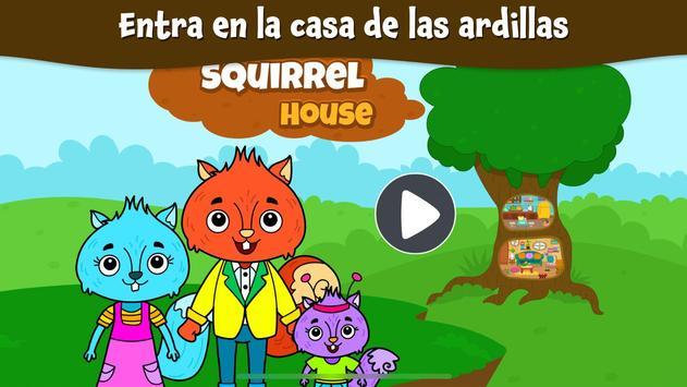 Ciudad Animal: Casa Ardilla para niños Poster