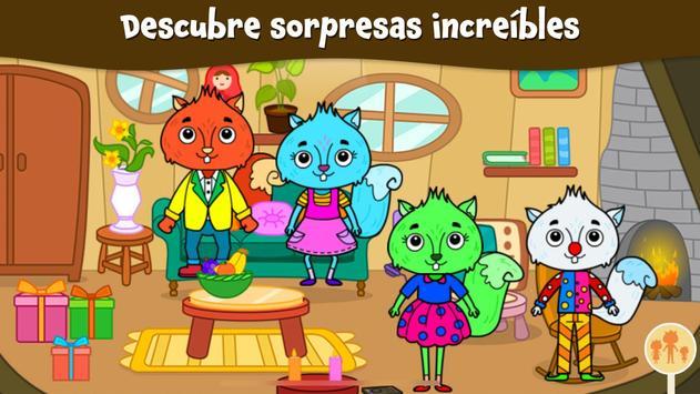Ciudad Animal: Casa Ardilla para niños captura de pantalla 1