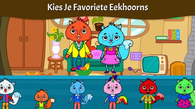 Dieren Stad - Mijn Eekhoornhuis voor Kinderen screenshot 19