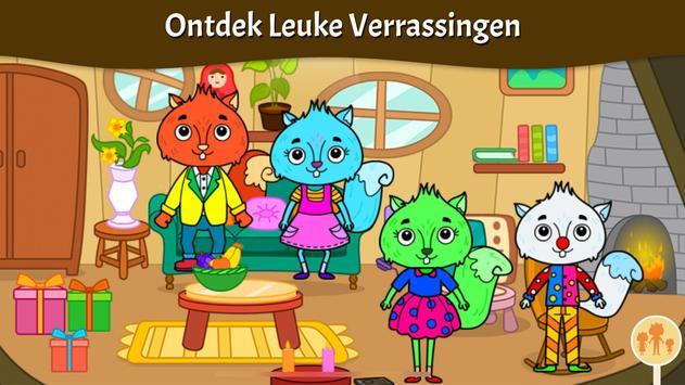 Dieren Stad - Mijn Eekhoornhuis voor Kinderen screenshot 1