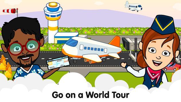 Aeropuerto de Tizi: Juegos de aviones para niños Poster