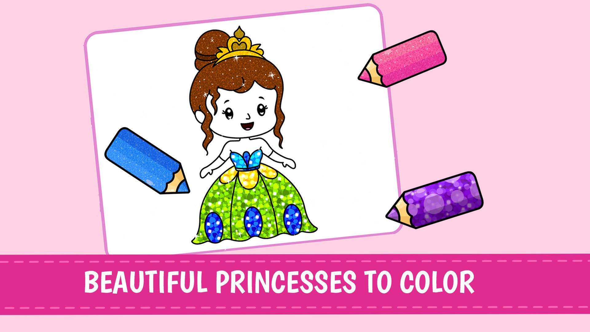 Jeux De Coloriage De Princesse Pour Les Filles Pour Android Telechargez L Apk