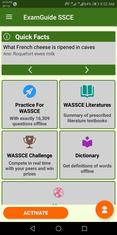 Naija ExamGuide SSCE (WAEC) Practice Software 2019 for Android - APK