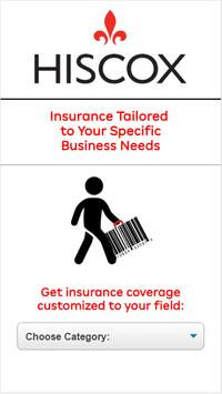 Hiscox - Insurance coverage for types os fields screenshot 1