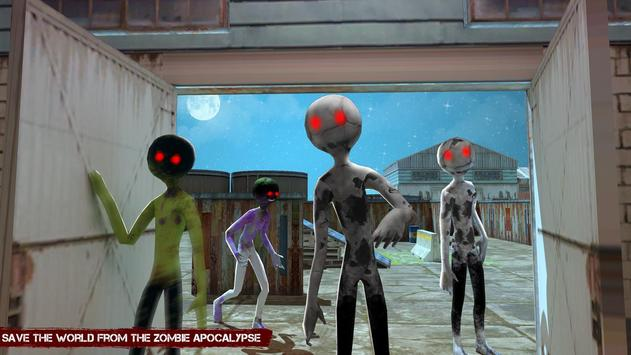 City Stickman Zombie Dead Hunter Survival screenshot 2