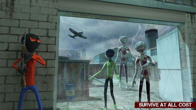 City Stickman Zombie Dead Hunter Survival screenshot 7
