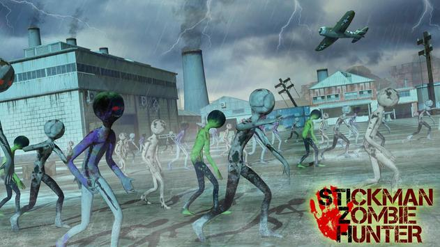 City Stickman Zombie Dead Hunter Survival screenshot 4