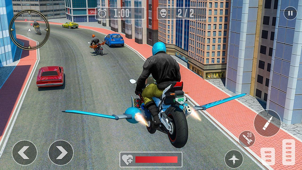 Flying Light Bike Shooting Simulator for Android - APK Download