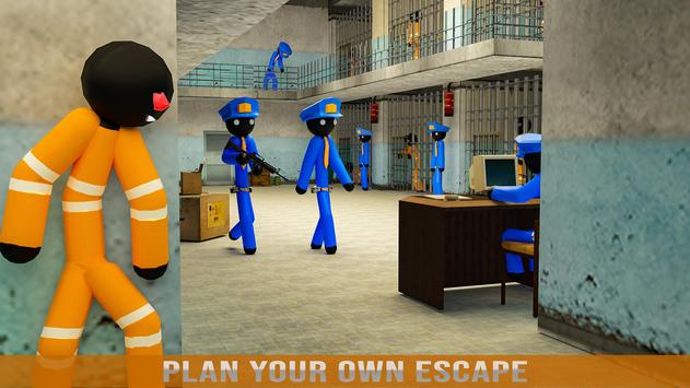 Stickman Jail Escape Survival Stealth Mission screenshot 4