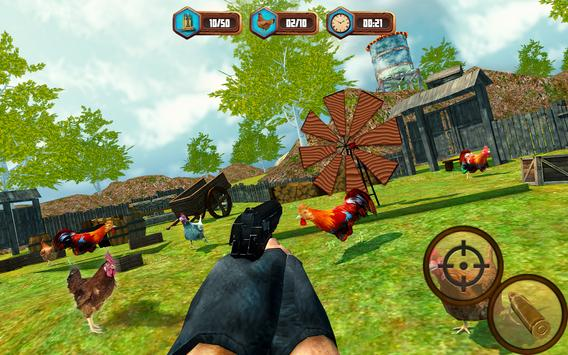 Bird Hunting Chicken Shooting Aim Wild Hen Hunt screenshot 13