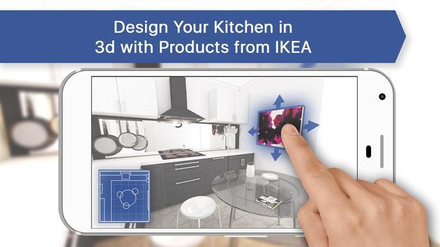 3D Kitchen Design for IKEA: Room Interior Planner poster