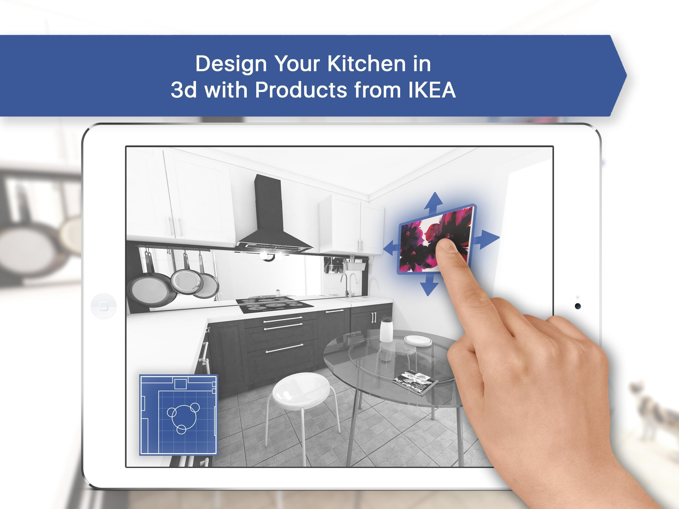 3D Kitchen Design for IKEA: Room Interior Planner for