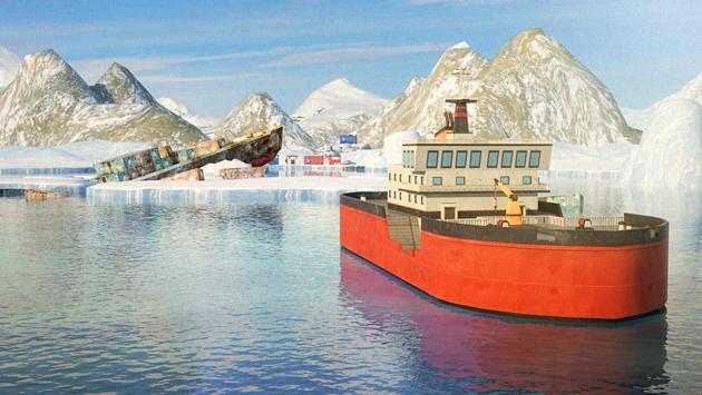 Icebreaker Boat Simulator Parking Games 2017 screenshot 3