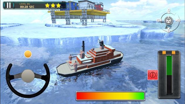 Icebreaker Boat Simulator Parking Games 2017 screenshot 10