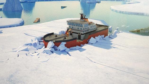 Icebreaker Boat Simulator Parking Games 2017 screenshot 12