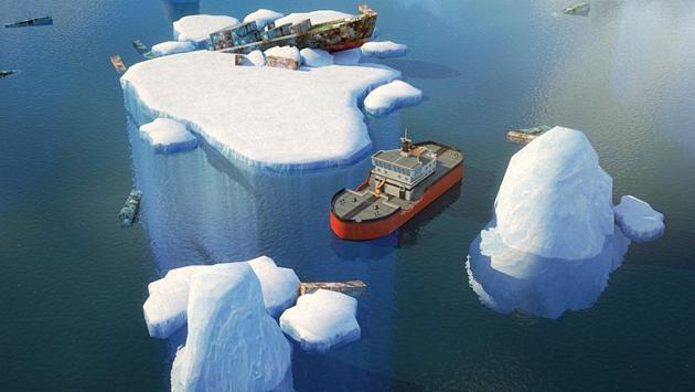 Icebreaker Boat Simulator Parking Games 2017 screenshot 1