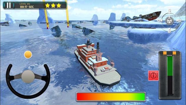 Icebreaker Boat Simulator Parking Games 2017 screenshot 2