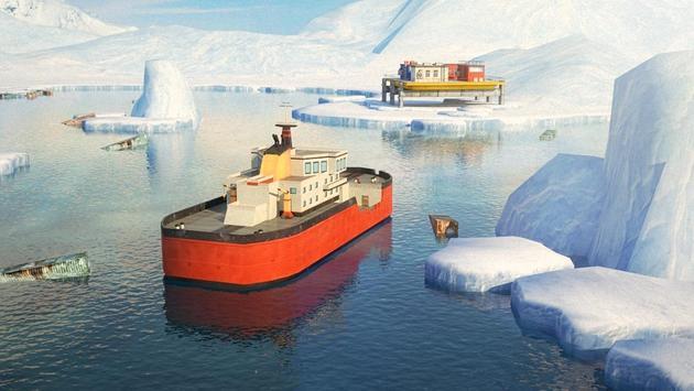 Icebreaker Boat Simulator Parking Games 2017 screenshot 5