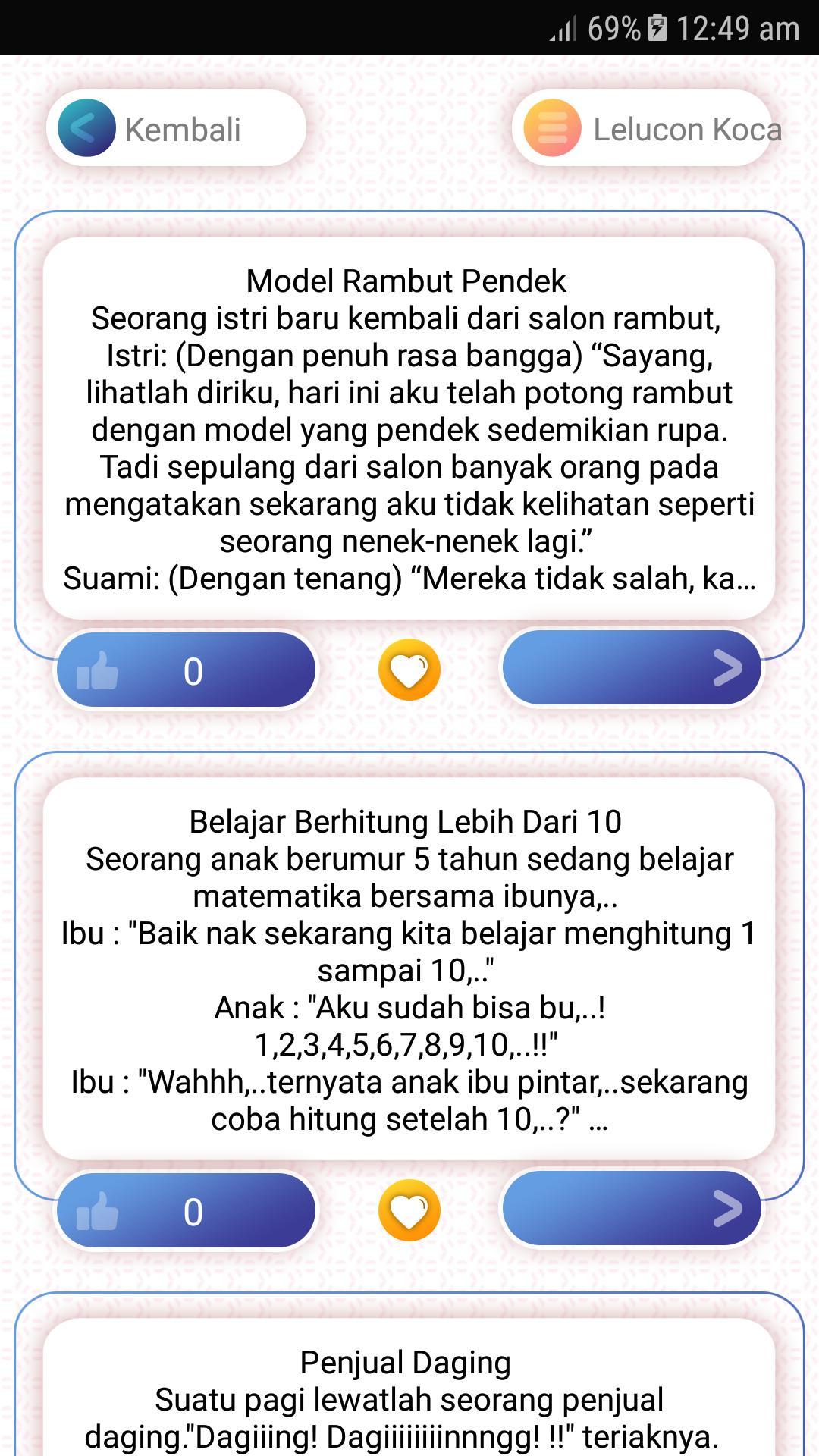 Cerita Humor Lucu Jaman Now Ngakak Kocak for Android