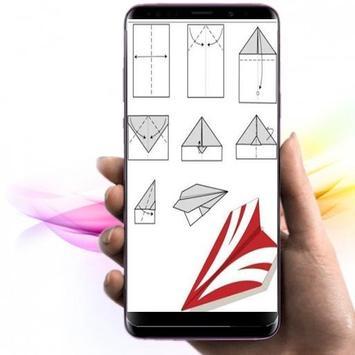 die Idee, Origami-Papierflieger herzustellen Plakat
