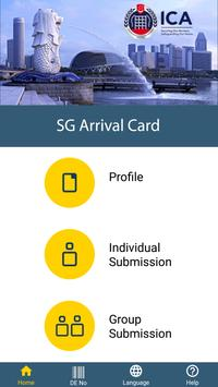 SG Arrival Card poster
