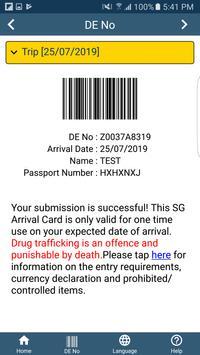 SG Arrival Card screenshot 2