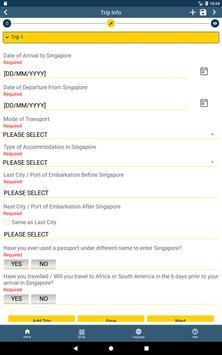 SG Arrival Card screenshot 4