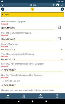 SG Arrival Card screenshot 7
