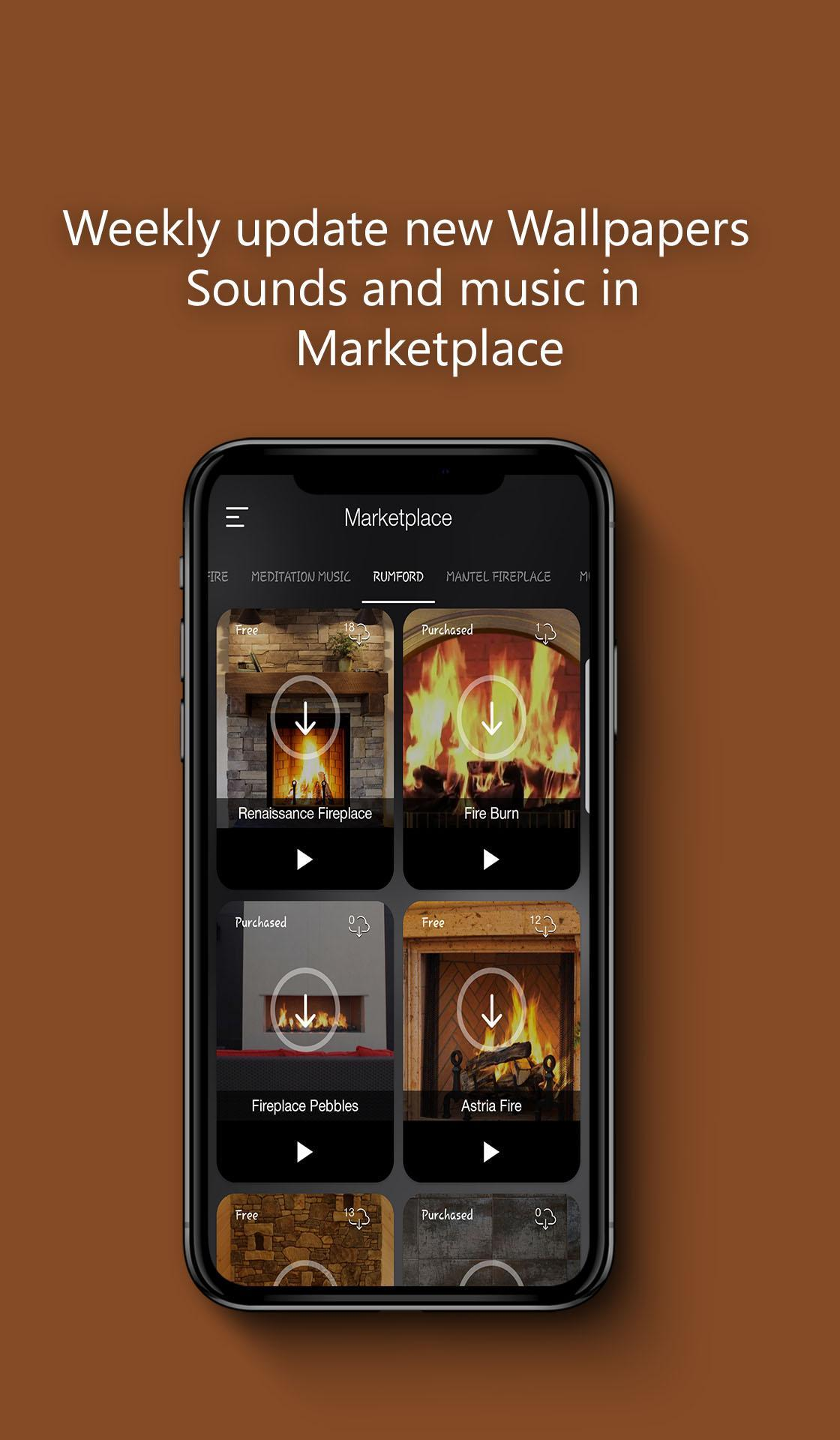 Crackling Fire Sounds: Relaxing Fireplace HD for Android