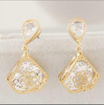 latest gold earrings ideas poster
