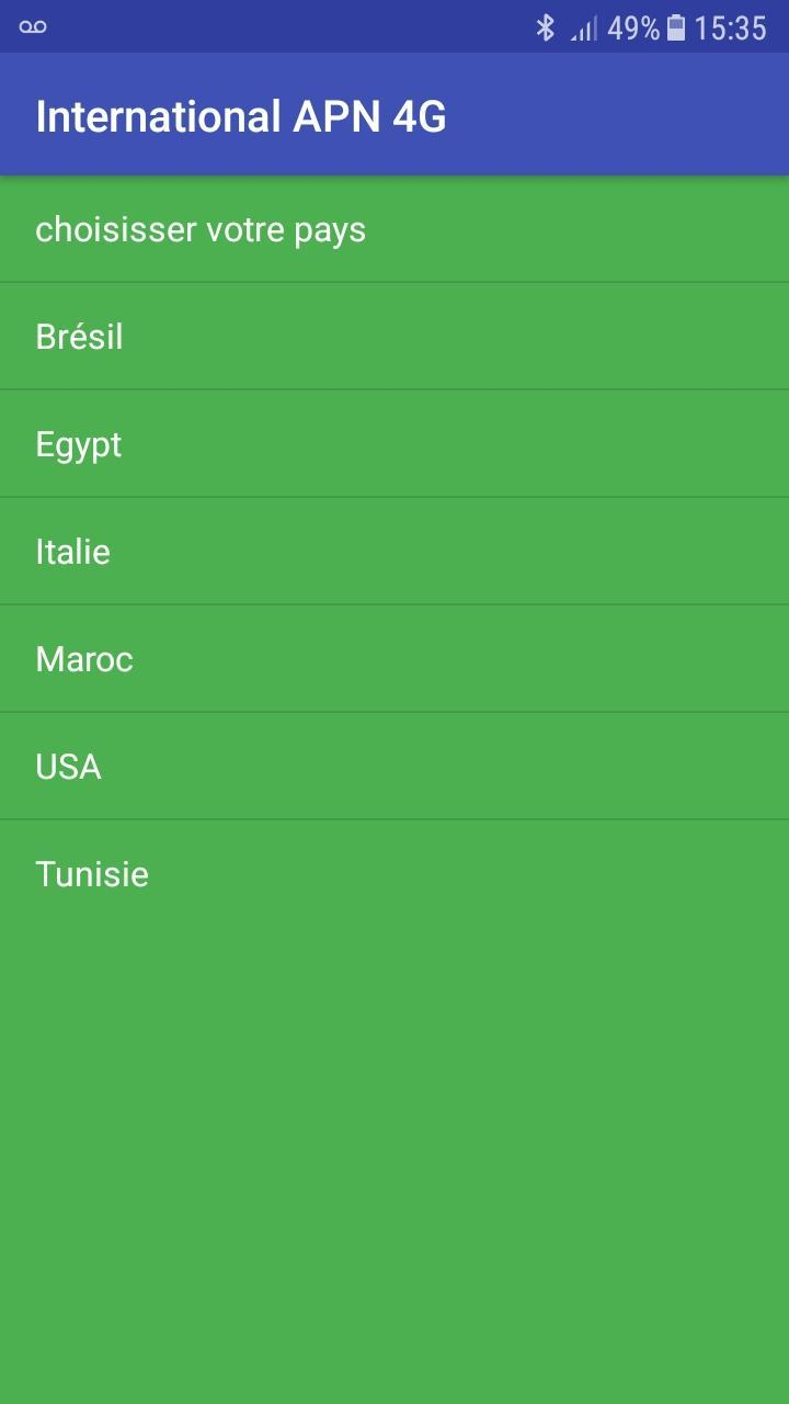 International APN Settings 2G 3G 4G for Android - APK Download