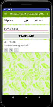 Dictionary and Conversation Korean Filipino screenshot 4