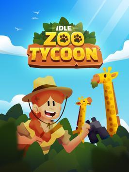 Idle Zoo Tycoon 3D постер