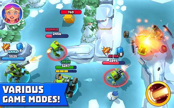 Tanks A Lot! - Realtime Multiplayer Battle Arena تصوير الشاشة 13