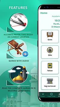 Islamic guide pro: Athan Quran Prayer Times, Qibla poster