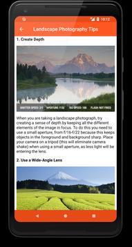 Photo Tips Free screenshot 1