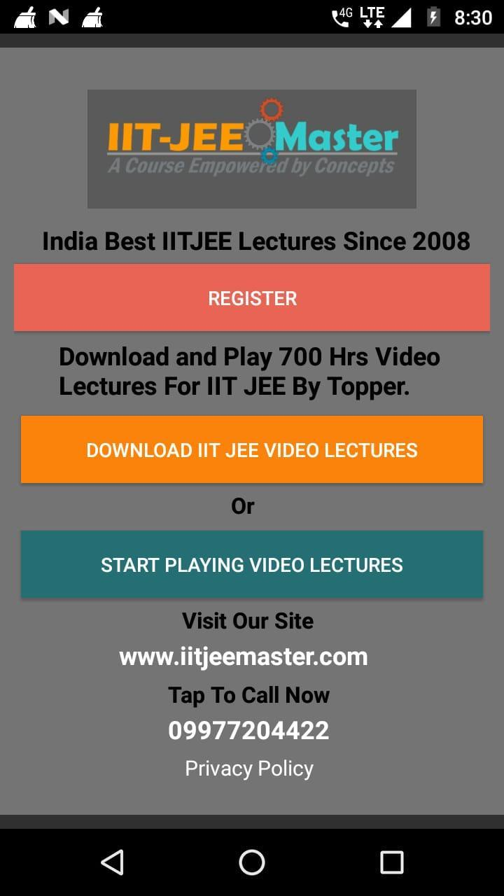 IIT JEE Video Lecture for Android - APK Download