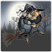 Halloween Witch Broomstick icon